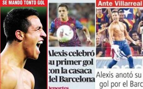 Alexis na okładkach chilijskich gazet