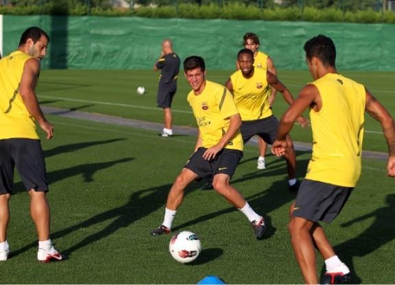 Niedzielny trening Barçy