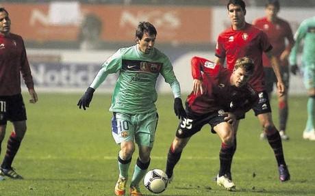 Messi zdobył 10 bramek w pojedynkach z Osasuną