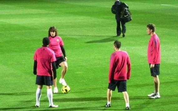 Puyol może wrócić na mecz z Milanem