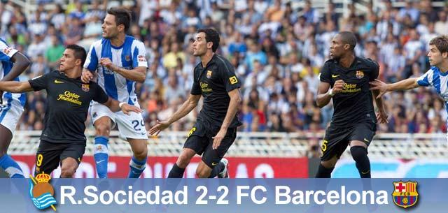 Sensacja na Anoeta, Sociedad – Barça 2:2
