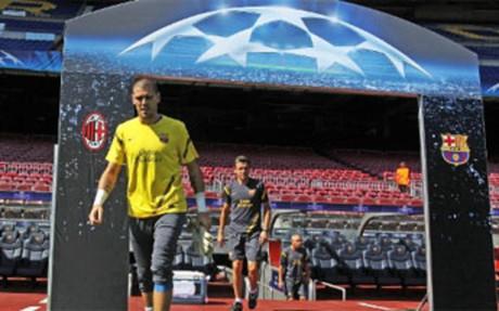 Lekki trening na Camp Nou