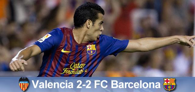Duet Messi-Cesc daje remis, Valencia – Barça 2:2