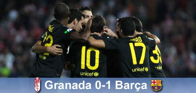 Xavi daje trzy punkty, Granada – Barça 0:1