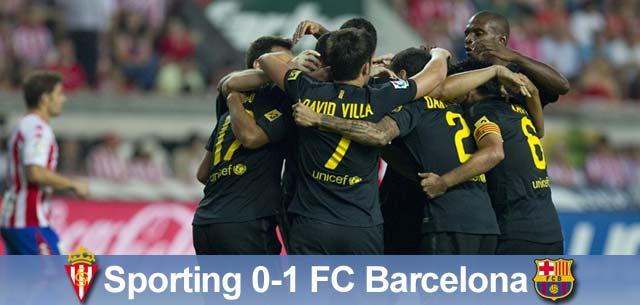 Minimalne zwycięstwo, Sporting – Barcelona 0:1
