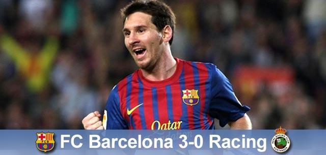 Barcelona samodzielnym liderem! Barça – Racing 3:0