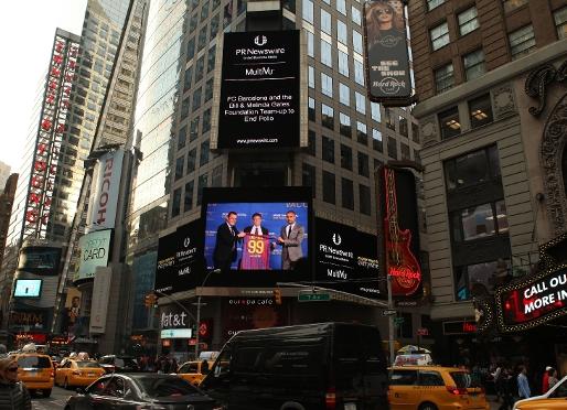 Wartości Barcelony na Times Square