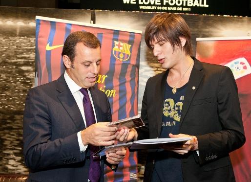 Yu Shirota kibicem FC Barcelony