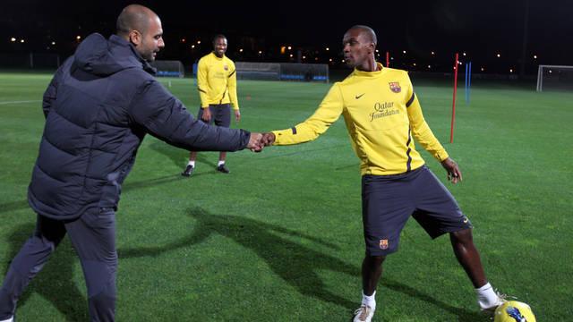 Trening bez Messiego, Mascherano i Alexisa