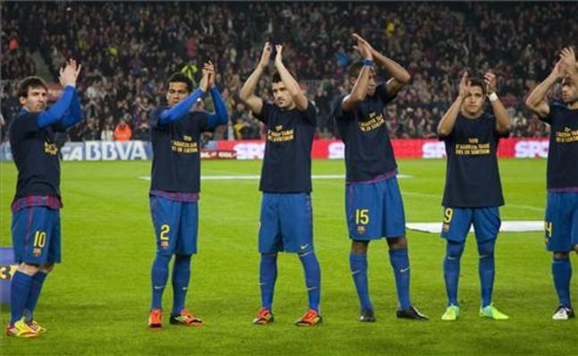 Piłkarze wspierają Vilanovę