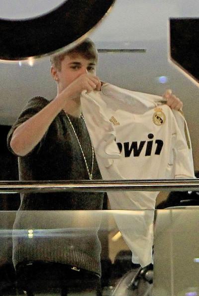 Justin Bieber z koszulką Realu Madryt!