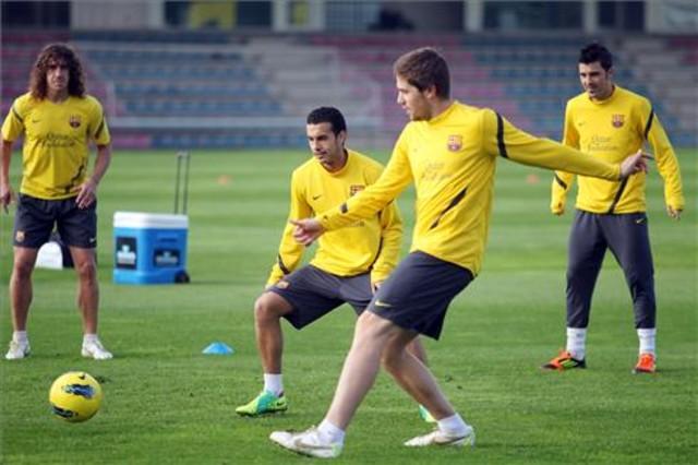 Dobrowolny trening pięciu piłkarzy