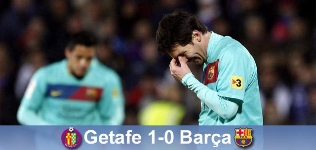 Pierwsza porażka, a Madryt ucieka; Getafe – Barça 1:0
