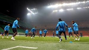 Zawodnicy na mecz z Milanem