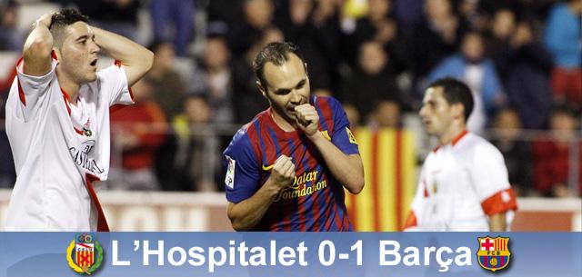 """Iniesta daje zwycięstwo: l""""Hospitalet – FC Barcelona 0:1"""