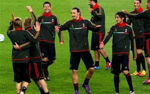 Milan trenuje karne