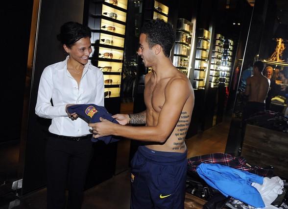 Piłkarze Barcelony na zakupach w Mediolanie