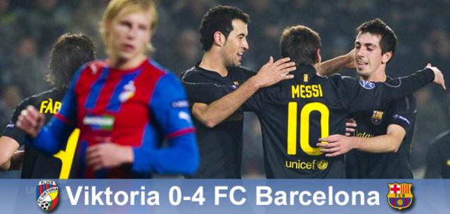 Hat-trick Messiego daje awans; Pilzno – Barcelona 0:4