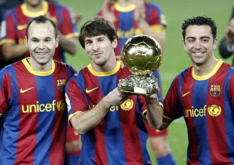 Iniesta, Messi i Xavi
