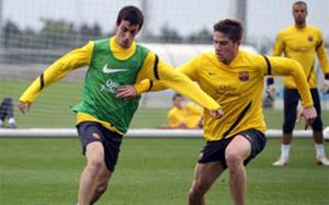 Trening przed Copa del Rey