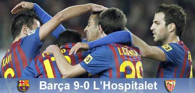 "Magia świąt: FC Barcelona 9 – 0 L""Hospitalet"