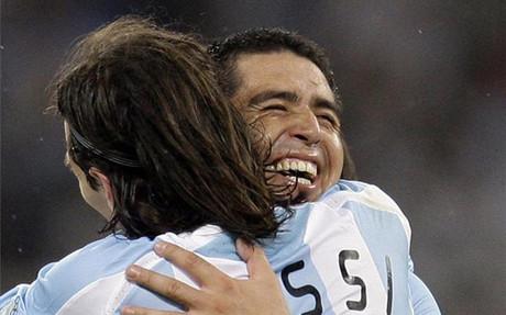 Riquelme marzy o grze razem z Messim w reprezentacji
