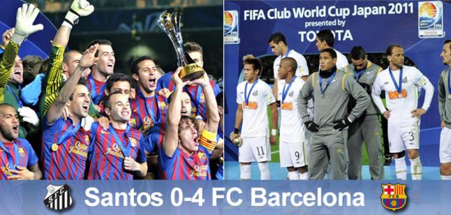 Campions del món! FC Barcelona – Santos FC 4:0!