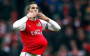 Van Persie: W TV tylko Arsenal i Barcelona