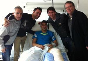 Messi i Xavi u Davida Villi
