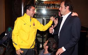 Piłkarze uczcili zdobycie tytułu uroczystą kolacją