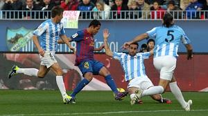 Statystyki z meczu Màlaga – Barcelona