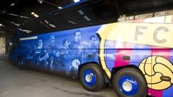 Nowy autobus piłkarzy Barcelony.