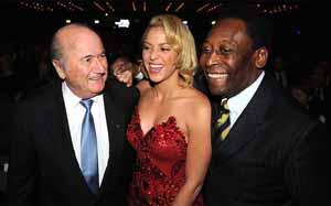 Shakira obecna na gali