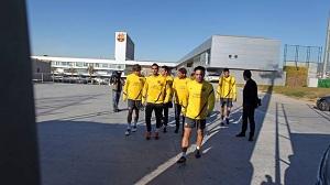 Sergi Gómez i Espinosa obecni na treningu