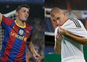 David Villa vs. Karim Benzema