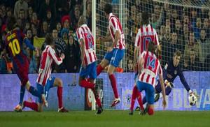 Atlético ulubioną ofiarą Messiego