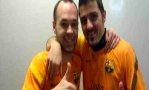 Iniesta i Villa ciężko trenują