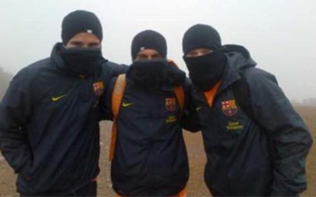 Pedro, Iniesta i Afellay w górach