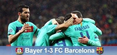 Pierwszy krok wykonany: Bayer Leverkusen 1:3 FC Barcelona