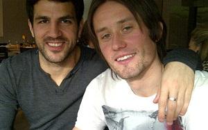 Cesc odwiedził kolegów z Arsenalu