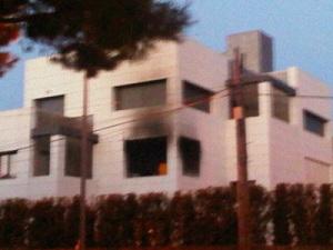 Pożar w mieszkaniu Keity