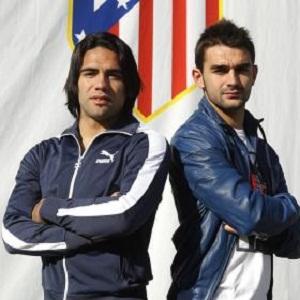 Falcao i Adrián przed meczem