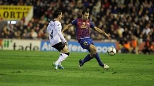 Mascherano, Valdés i Alves po meczu