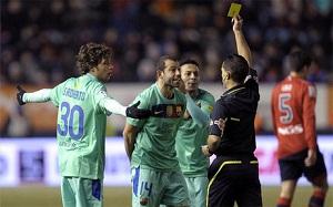 Mascherano otrzymał czerwoną kartkę… po meczu