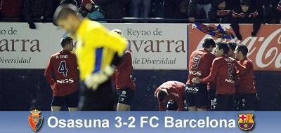 Mistrzostwo odjeżdża: Osasuna 3-2 FC Barcelona