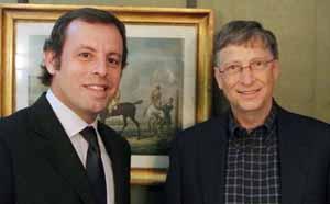 Rosell i Gates spotykają się w Madrycie
