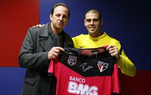 Rogério Ceni odwiedził Valdésa