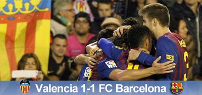 Pierwszy krok za nami: Valencia 1 – 1 FC Barcelona
