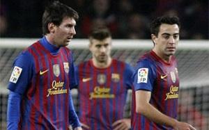 Messi, Piqué i Xavi jasną stroną Ligi Mistrzów