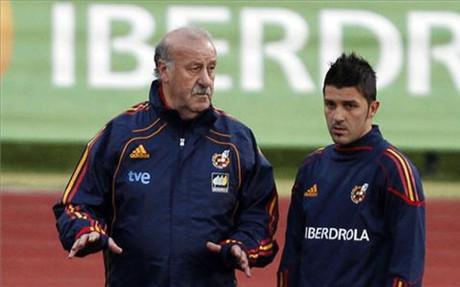 Del Bosque liczy na grę Villi na Euro